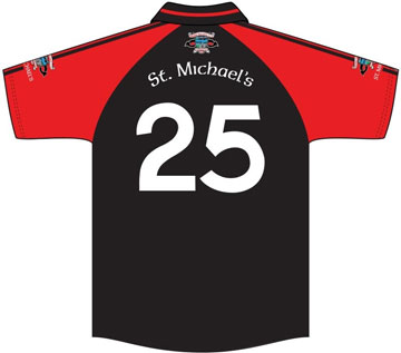 St. Michaels GFC Jersey Back